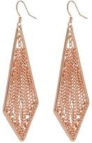 BCBGMAXAZRIA BCBGeneration - Coachella Tritone/Rose Gold Chandelier Drop Earrings