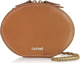 Cafune Caramel Leather Egg Chain Shoulder Bag