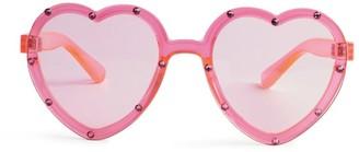 Bari Lynn Crystal Heart Sunglasses