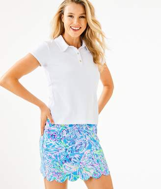Lilly Pulitzer UPF 50+ Luxletic Frida Polo Top
