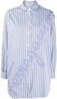 Salvatore Ferragamo oversized signature striped shirt