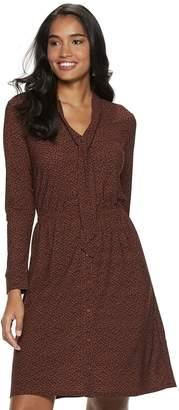 Apt. 9 Petite Tie Neck Shirt Dress