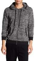 Micros Danny Long Sleeve Knit Zip Front Hoodie