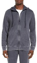 Daniel Buchler Men's Washed Cotton Blend Terry Zip Hoodie