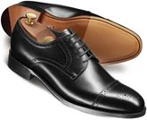 Charles Tyrwhitt Black Harding Calf Leather Toe Cap Brogue Derby Shoes Size 13