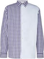 Jw Anderson Patchwork Gingham Cotton-Poplin Shirt