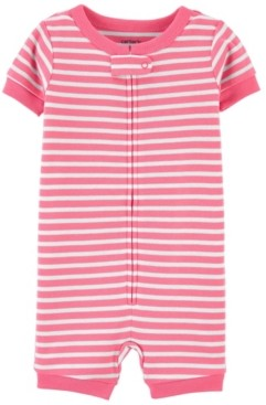 Carter's Baby Boys and Girls Striped Romper Pajamas