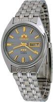 Orient #FEM0401PK Men's Tri Star Gray Dial Standard Self Winding Automatic Watch