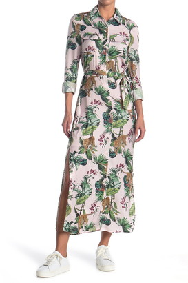 David Lerner Lola Safari Maxi Shirt Dress