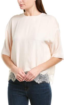Vince Lace-Trim T-Shirt