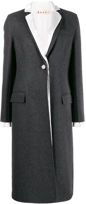 Marni Layered Single Breasted Coat