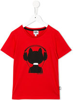 Karl Lagerfeld cat print T-shirt - kids - Cotton - 4 yrs