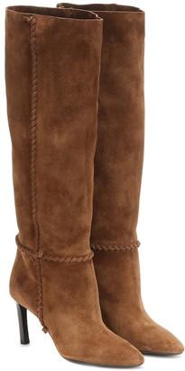 Saint Laurent Mica 75 suede boots
