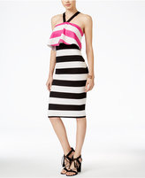 XOXO Juniors' Striped Popover Midi Dress