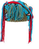 Peter Pilotto Dinosaur applique crocheted bag - women - Silk/Cotton/Polyester - One Size