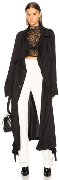 Ann Demeulemeester Double Breasted Trench Coat