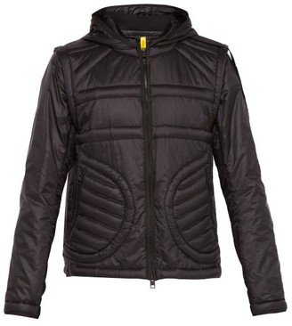 Craig Green 5 Moncler Hooded Quilted Logo Jacket - Mens - Black