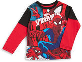 Nannette Boys 2-7 Mock-Layered Long-Sleeve Spiderman Graphic T-Shirt