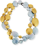 Viktoria Hayman Double-Strand Two-Tone Disc Necklace