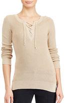 Lauren Ralph Lauren Petite Lace-Up Sweater