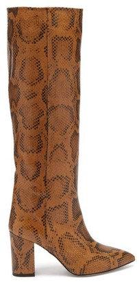 Paris Texas Python-effect Leather Boots - Python