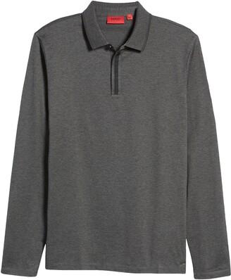 HUGO BOSS Denoz Long Sleeve Cotton Polo