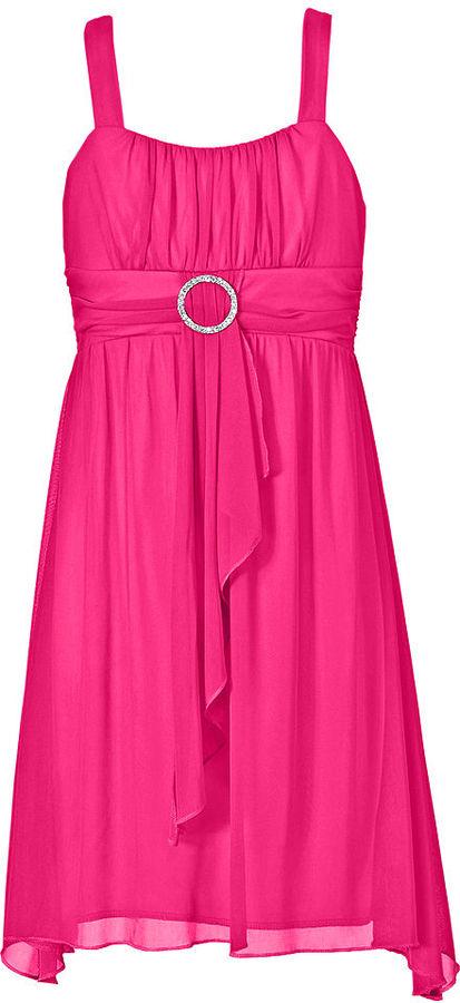 Ruby Rox Girls Dress, Girls Sheer Matte Dress