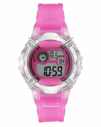 Armitron Sport Women's Digital Chronograph Translucent Resin Strap Watch 45/7129