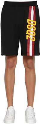 DSQUARED2 PRINTED COTTON JERSEY SHORTS