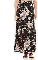 Soprano Floral Printed Wrap Maxi Skirt