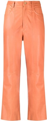 Forte Forte Cropped Leather Trousers