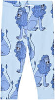 Mini Rodini Lion Leggings In Light Blue