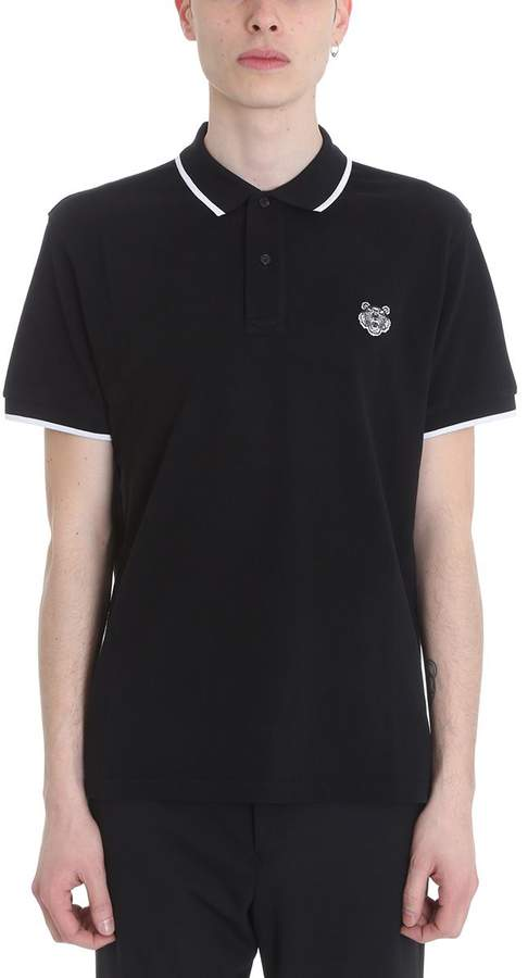 Kenzo Tiger Black Cotton Polo