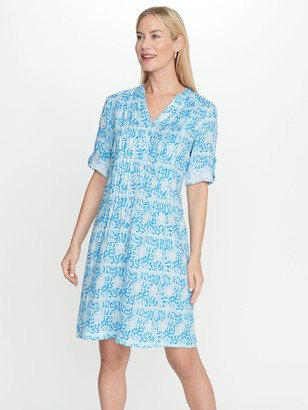 J.Mclaughlin Riviera Linen Dress in Bohemian Leaf