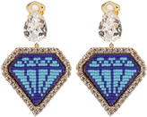 Shourouk Emojibling diamond-motif earrings