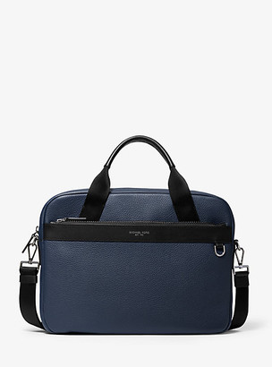 Michael Kors Greyson Slim Pebbled Leather Briefcase - Black
