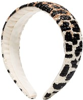 Ganni Animal Print Beaded Headband