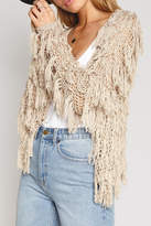 Amuse Society Fringe Knit Cardigan