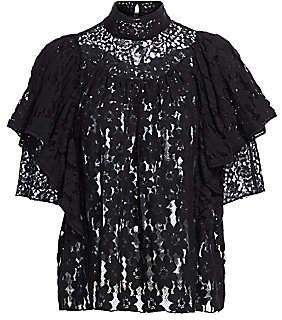Etoile Isabel Marant Women's Veta Sheer Lace Top