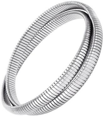 Janis Savitt High Polished Rhodium Double Cobra Bracelet