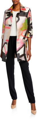 Caroline Rose Happy Hour Printed Party Jacket