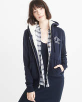Abercrombie & Fitch Logo Sherpa Hoodie