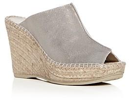 Andre Assous Women's Cici Platform Wedge Espadrille Slide Sandals