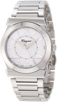 Salvatore Ferragamo Men's F74MBQ9901 S099 Vega Polished Stainless Steel Silver Dial Sapphire Crystal Watch