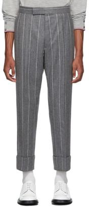 Thom Browne Grey Classic Backstrap Trousers