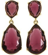 Kenneth Jay Lane Purple Crystal Teardrop Goldtone Pierced Earrings 2
