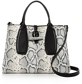 Longchamp Medium Snake-Print Tote