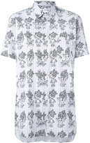 Comme des Garcons printed short sleeve shirt - women - Cotton - S