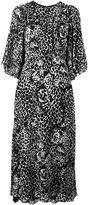 Saint Laurent leopard print flared dress - women - Silk/Viscose - 38