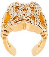 Roberto Cavalli Swarovski Crystal logo ring